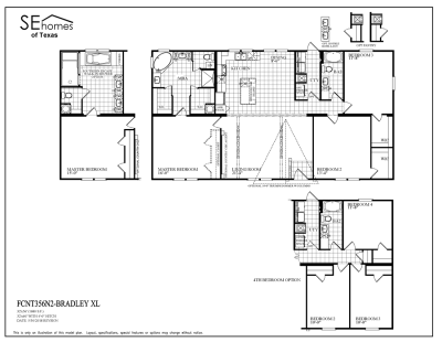 Southern Energy Homes Fossil Creek Series Floorplans