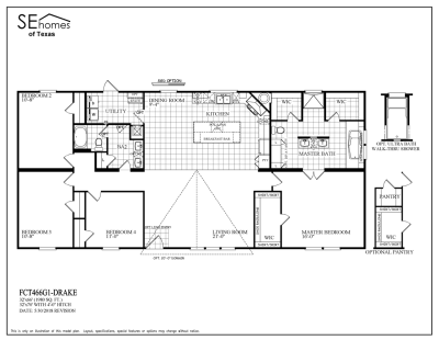 Southern Energy Homes Fossil Creek Series Floorplans